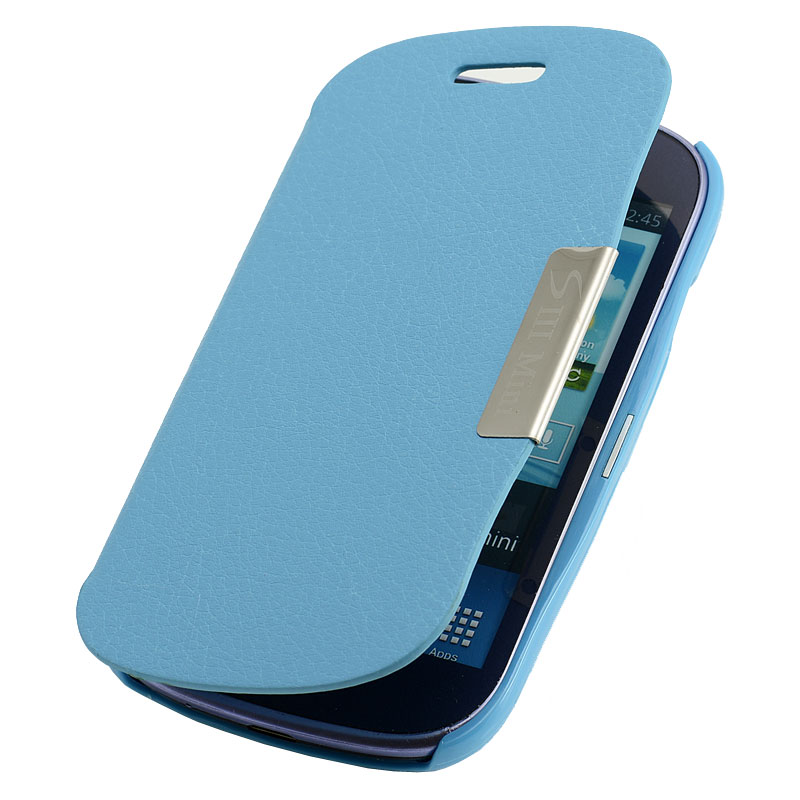 samsung galaxy s3 mini i8190 flip cover 59 h blau case. Black Bedroom Furniture Sets. Home Design Ideas